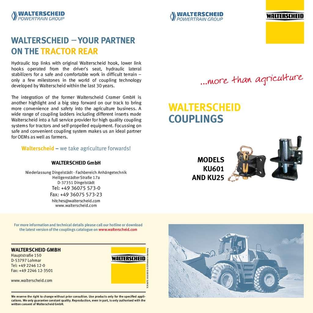 Walterscheid Flyer Couplings for industrial commercial vehicles