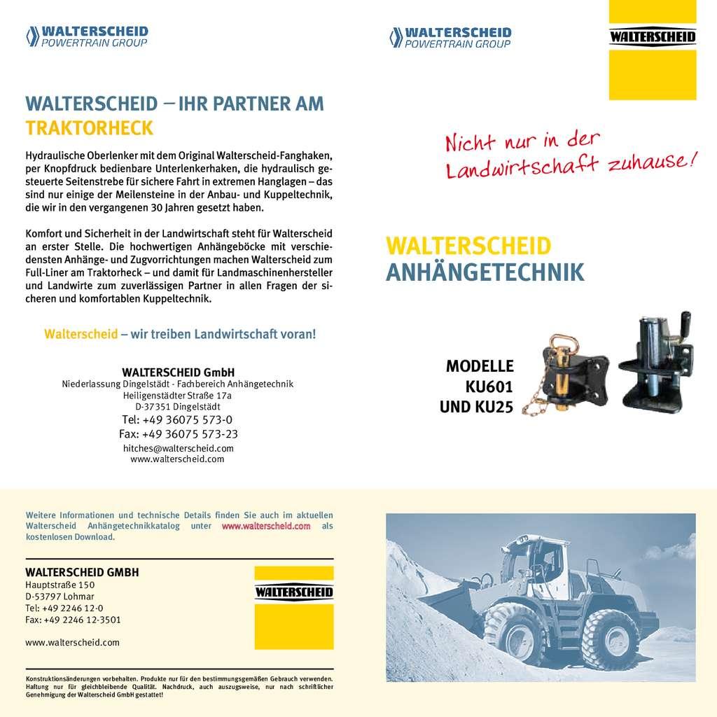 Walterscheid Flyer Rangier- und Industriekupplungen