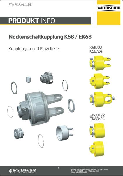 K68 Kupplungen und Ersatzteile