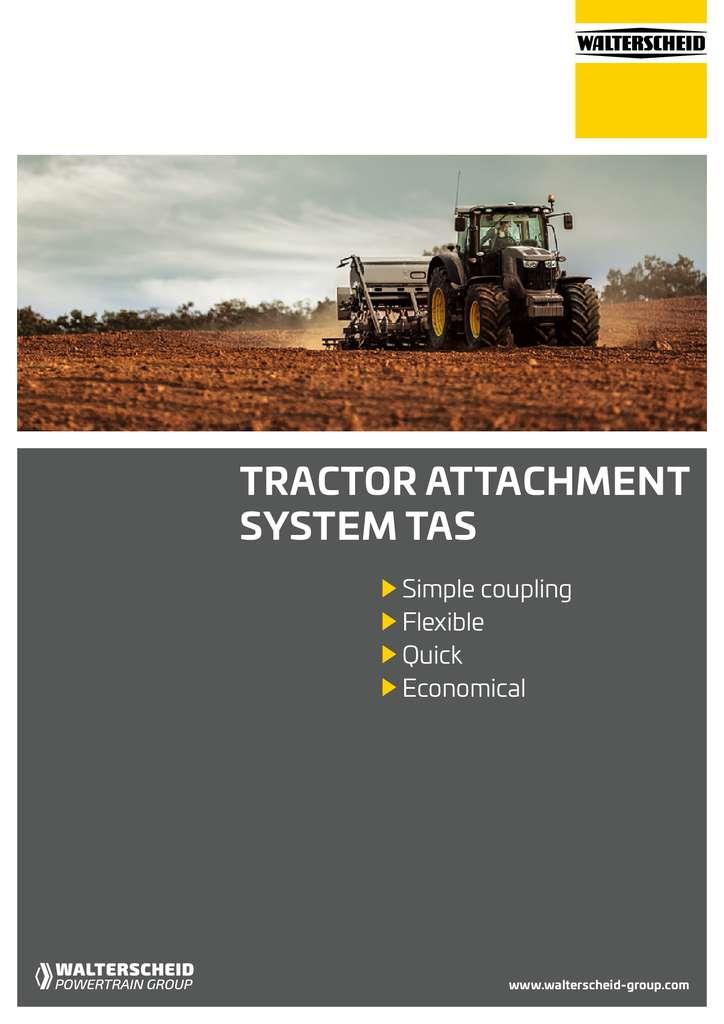 Walterscheid brochure tractor attachment systems