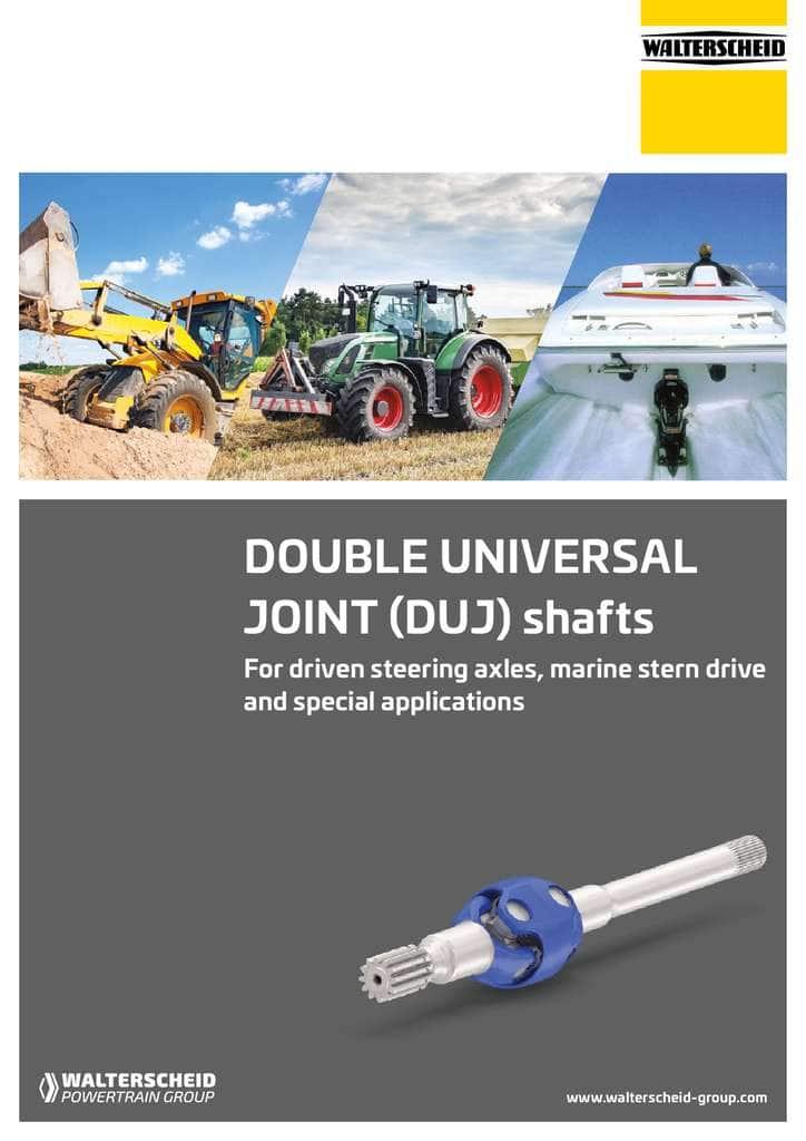 Walterscheid brochure Double Universal Joints