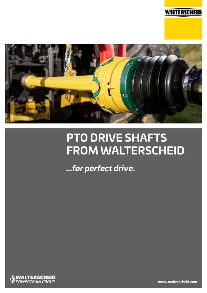 Walterscheid brochure drive shafts