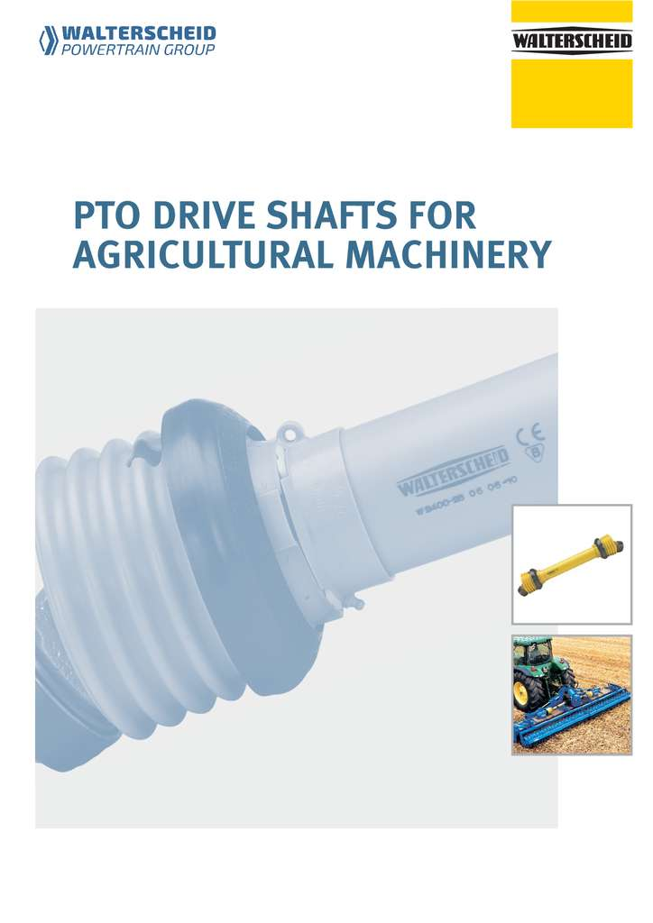 Walterscheid PTO drive shafts for agricultural machinery