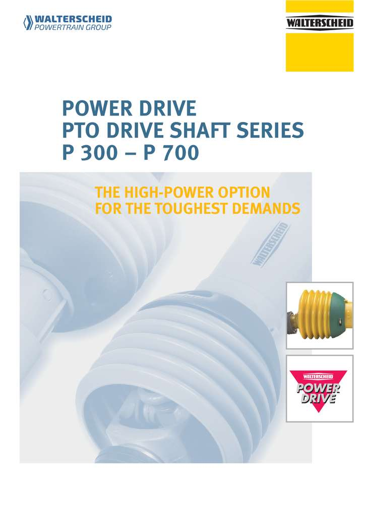 Walterscheid Power Drive Shafts