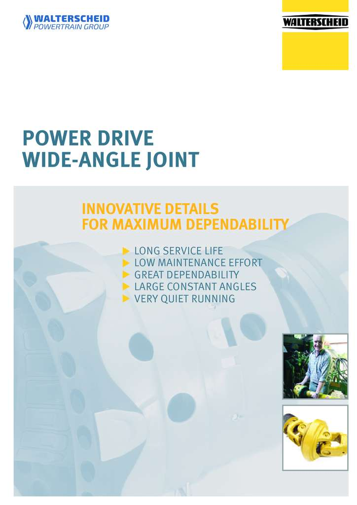 Walterscheid Power Drive Wide-angle joint