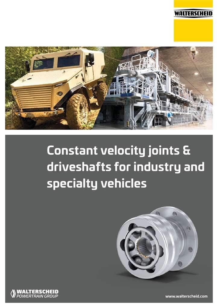 Walterscheid brochure Constant Velocity Joints