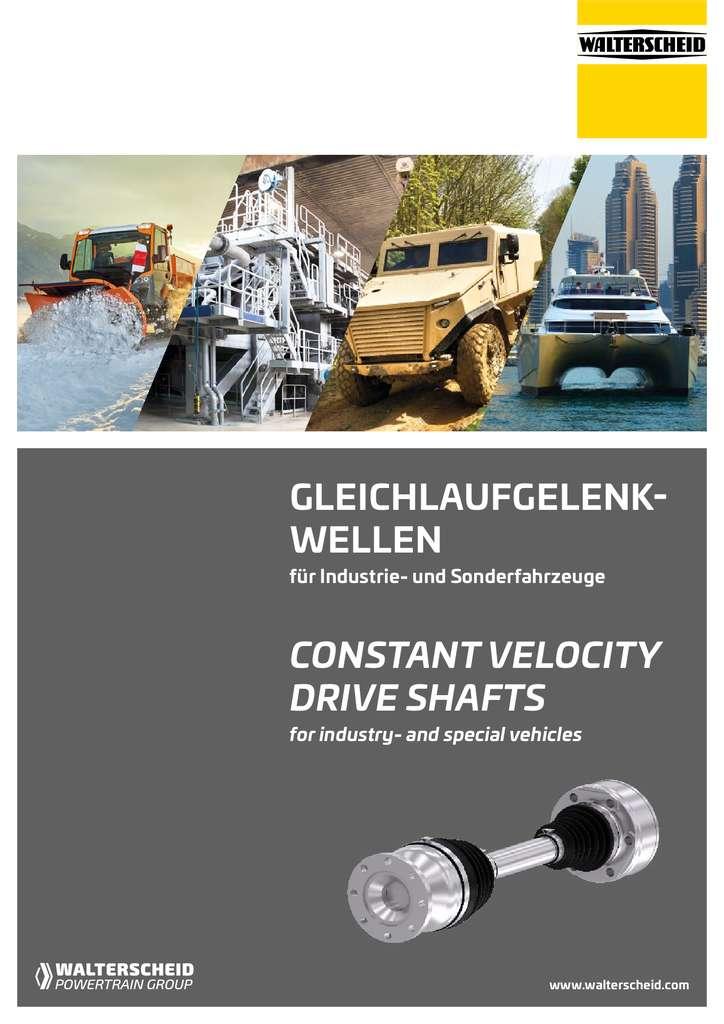 Walterscheid Catalogue Constant Velocity Joints