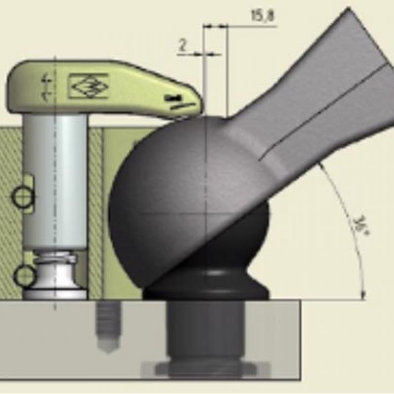 Walterscheid Systemaufbau – Kugel 80 mit Niederhaltereinrichtung