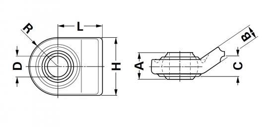 Kugelgelenkkopf Unterlenker 4 Kugelgelenkköpfe für Unterlenker Walterscheid® Kugelgelenkkopf UL CAT.1/2 - 1200911